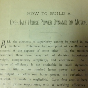 How to Build a One-Half Horse Power Dynamo or Motor 3