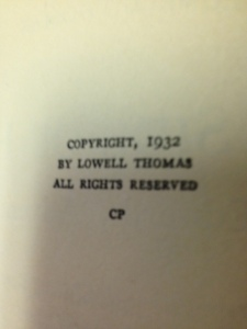 Lowell Thomas books 7