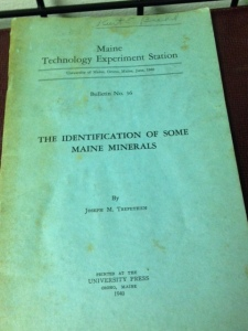 The Identification of Some Maine Minerals 3